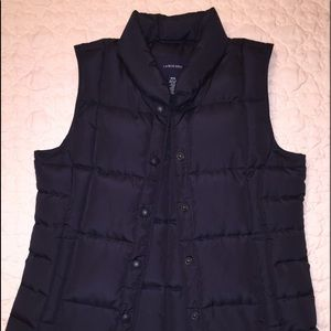 Lands End Navy Puffer Vest